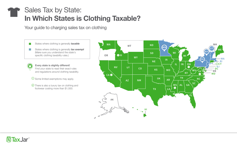 State-Clothing-Taxability-Map